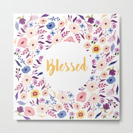 Blessed with Flowers Metal Print