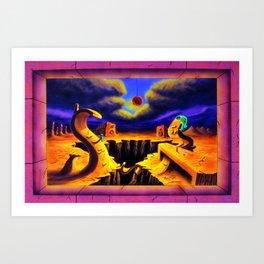 Trippy Surreal Psychedelic Art by Vincent Monaco - Superficial DIversion Art Print