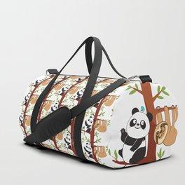 Cute Sloth & Panda Duffle Bag