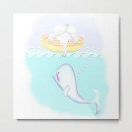 Elephant Whale Tale Metal Print
