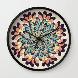 Maple Samaras Flower Mandala Wall Clock
