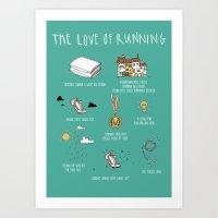 The Love of Running Art Print