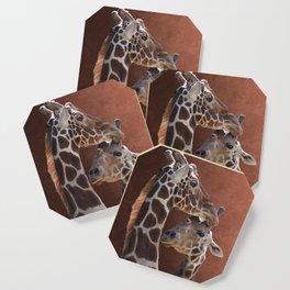 Endearing Giraffes Coaster