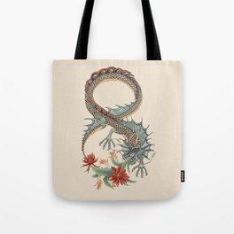 Botanical Flower Dragon 8 Tote Bag