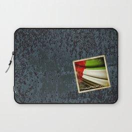 Grunge sticker of United Arab Emirates flag Laptop Sleeve