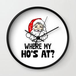 Where My Ho's At Wall Clock