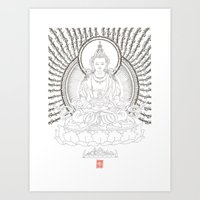 Amitayus - Glorious one who overcomes all untimely death Art Print