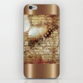 LE PAPILLON | tan iPhone Skin