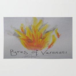 Pyres of Varanasi. Rug