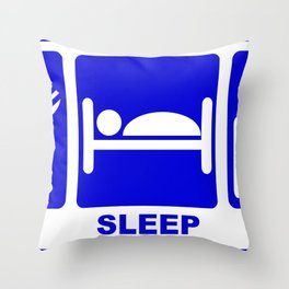 eat, sleep, study-hack Throw Pillow