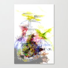 Flying Home (Glitch Remix) Canvas Print