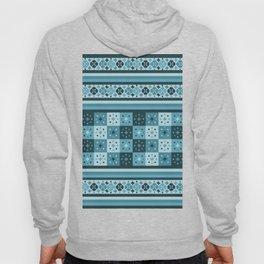 Bohemian Blue Tiles Pachwork Hoody