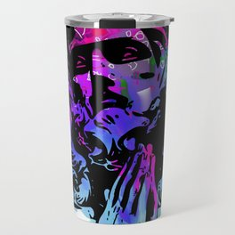 Jesus and the Headtones, in Bue Travel Mug