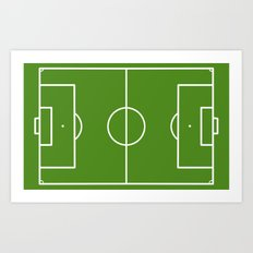 Football field fun design soccer field Art Print