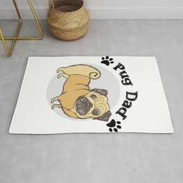 Pug Dad Funny Love Dog Pet Gift Rug