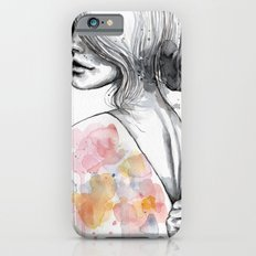 Implosion, watercolor with ink iPhone 6s Slim Case