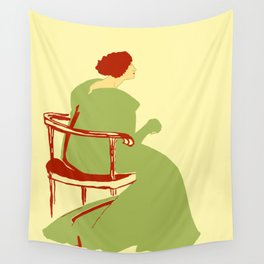 Living posters minimalist art nouveau Wall Tapestry