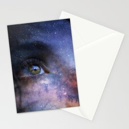 Galaxy woman star Stationery Cards