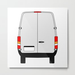 Small Van Back Doors Metal Print