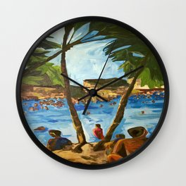 """Welcome to Streets Beach"" Wall Clock"
