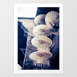 Chinese paper parasols Art Print