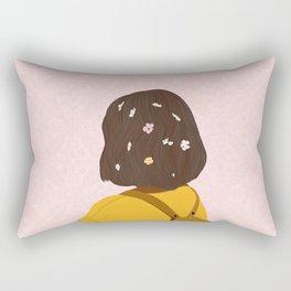 The Flower lady Rectangular Pillow