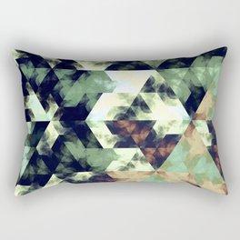 Green Hex Rectangular Pillow
