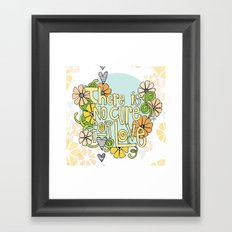 There Is No Cure For Love Framed Art Print