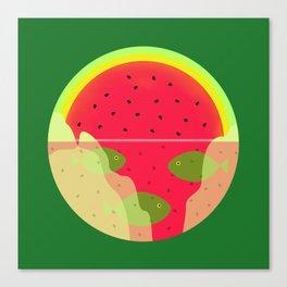 Watermelon Underwater Scene Canvas Print