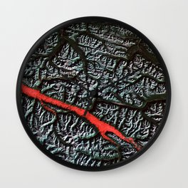 Satellite Image of the Canadian Rockies Wall Clock