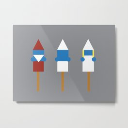 Popsicle Smurfs Metal Print
