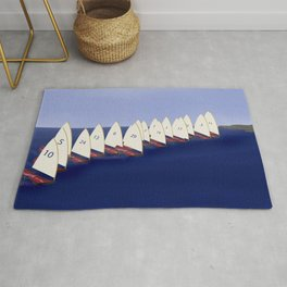 In May, May's Regatta - shoes stories Rug
