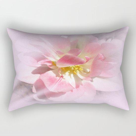 Fancy Pink Tulip Abstract Rectangular Pillow