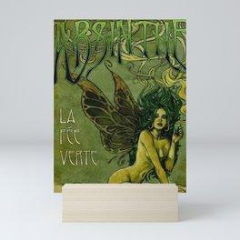 Vintage Parisian Green Fairy Absinthe Alcoholic Aperitif Advertisement Poster Mini Art Print
