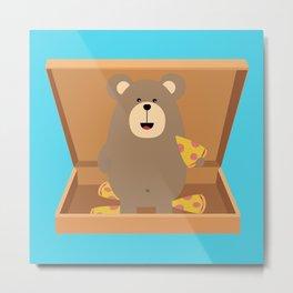 Brown Bear in Metal Print