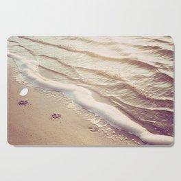 Dog Paw Prints Beach Photography, Water Ripples Photograph, Ocean Dog Lover Coastal Print Cutting Board