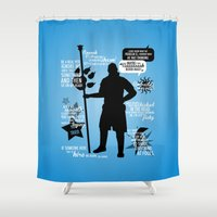 dragon age Shower Curtains featuring Dragon Age - Anders by firlachiel