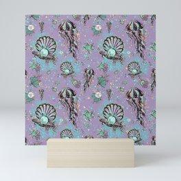 Audrey Mermaid Pattern 11 Mini Art Print