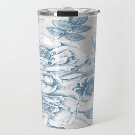 Blue Flower Anely Travel Mug