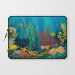 Undersea Art With Coral Laptop Sleeve