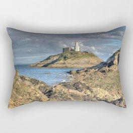 Swansea Lighthouse Mumbles Rectangular Pillow