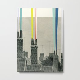 Smoke City Metal Print