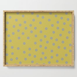 Simply Dots Retro Gray on Mod Yellow Serving Tray