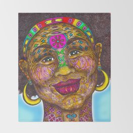 Wisdom Keeper Color #1 (Beauty) Throw Blanket