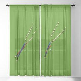 Snooker Cues Sheer Curtain