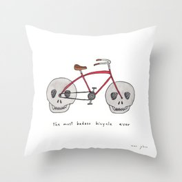 the most badass bicycle ever Throw Pillow