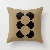 teddy bear Throw Pillows featuring TEDDY BEAR by THE USUAL DESIGNERS