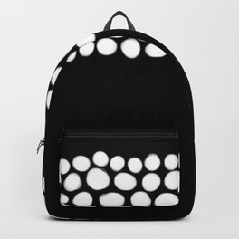 Soft White Pearls on Black Backpack
