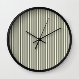 Trendy French Beige Mattress Ticking Black Double Stripes Wall Clock