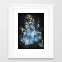 mandie manzano Framed Art Prints featuring Bibbidi bobbidi by Mandie Manzano